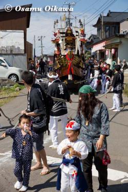 姥神大神宮渡御祭 2012 上町巡幸 船山車