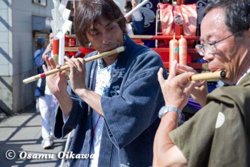 姥神大神宮渡御祭 2012 上町巡幸 笛吹き合戦