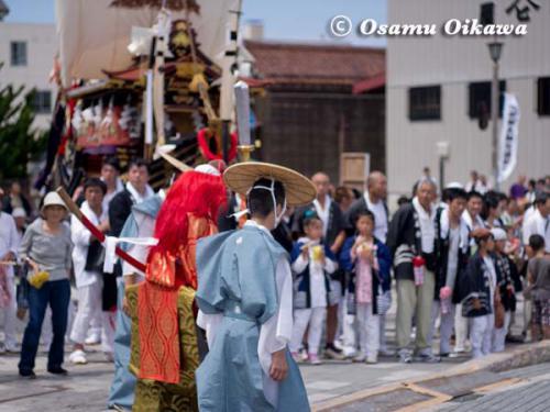 姥神大神宮渡御祭 2012 上町巡幸 猿田彦が通る