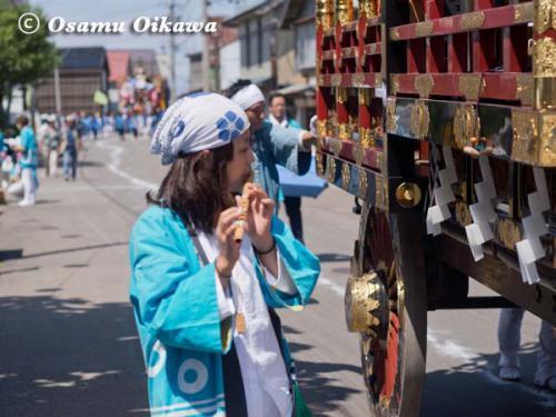 姥神大神宮渡御祭 2012 上町巡幸 笛吹き