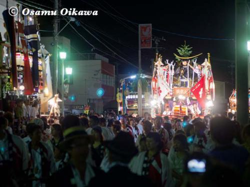 姥神大神宮渡御祭 2012 上町巡幸 夜の新地 蛭子山