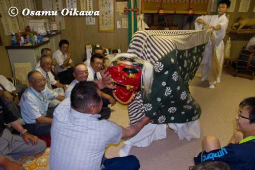 厚沢部町 鷲之巣神社 獅子舞