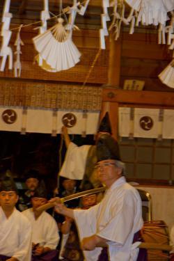 湯倉神社 注連祓舞