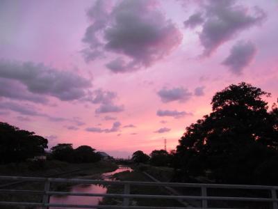 きれいな夕焼け空です