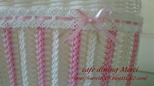 ピンクと白のストライプ