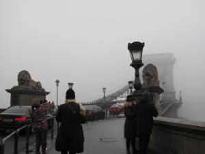 霧のくさり橋