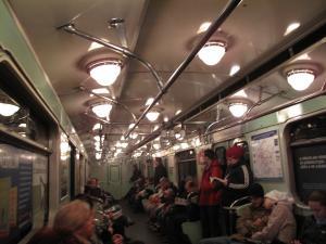 ブダペスト地下鉄の中