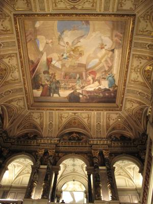 美術史博物館の天井