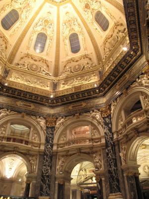 美術史博物館のカフェの天井