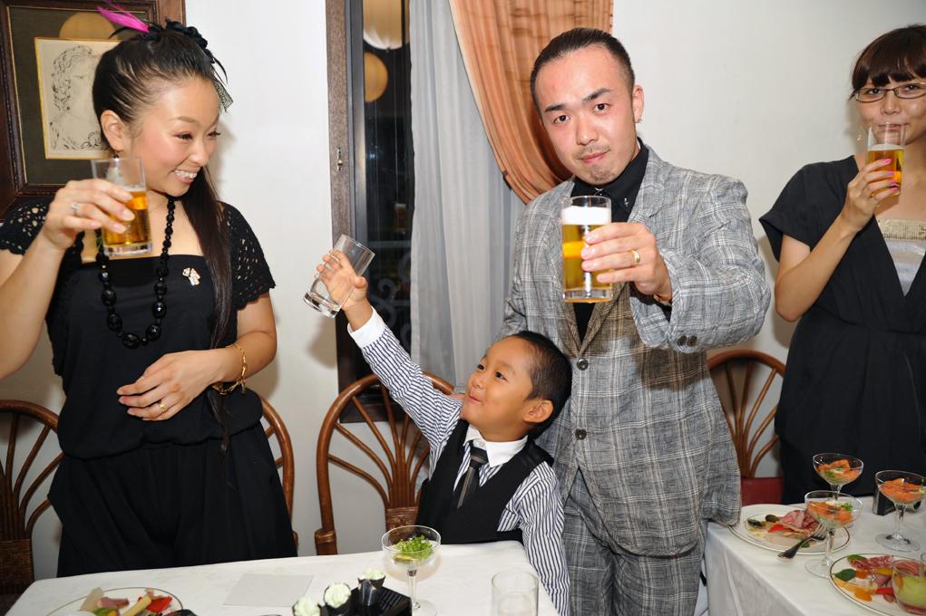 晋平太 結婚