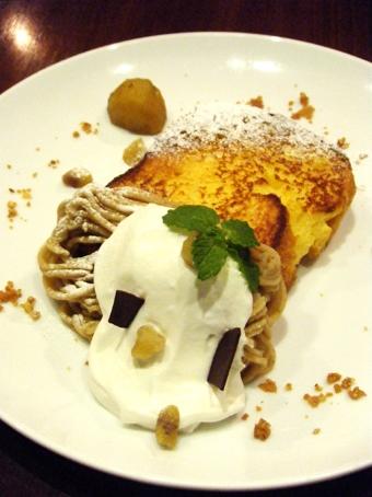 『chai break(チャイブレイク)』の和栗のフレンチトースト