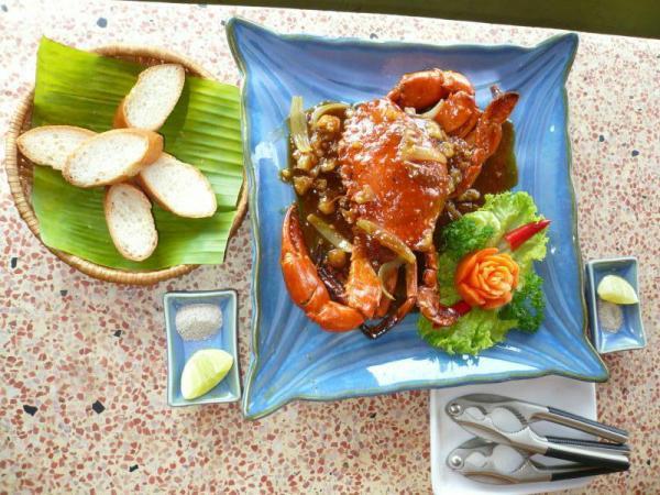 蟹のタマリンド炒め