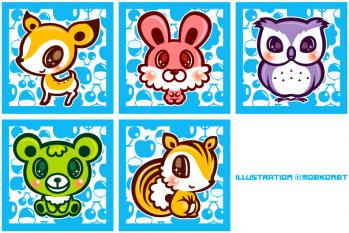動物のキャラクターデザインイラスト