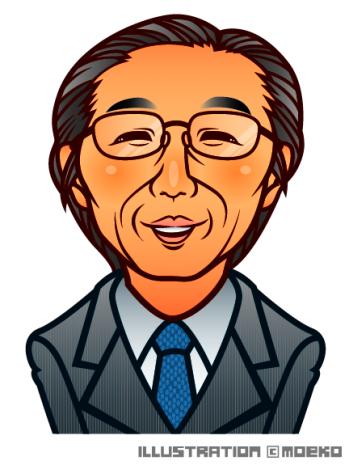 ご年配の男性似顔絵イラスト