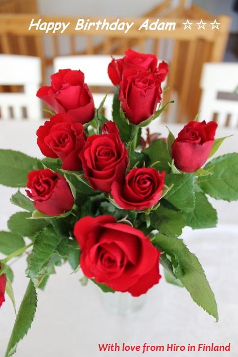 Ruusu Adam HBD