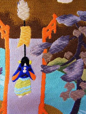 お見せできませんでしたが、この童子の向かう先には三重の塔があります。