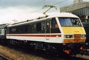 Class 90 90001 at Crewe