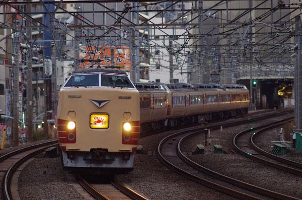 2011.1.14 恵比寿~渋谷 183系12連鎌倉臨
