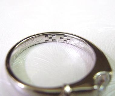沖縄縁起物婚約指輪カタレーミンサー刻印1