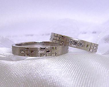 沖縄 結婚指輪 婚約指輪 ミンサー2