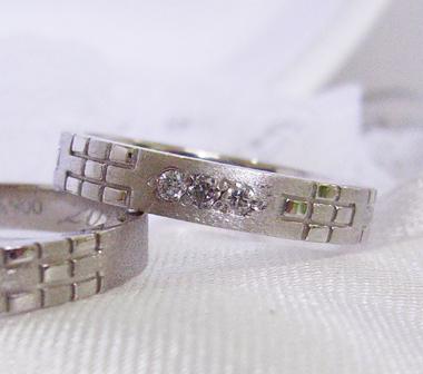 沖縄 結婚指輪 婚約指輪 ミンサー3