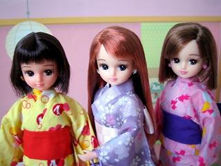 ゆかた3人娘。