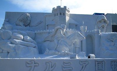 ナルニア国雪像