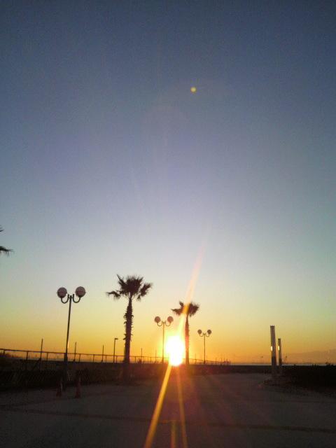 舞浜の夜明け