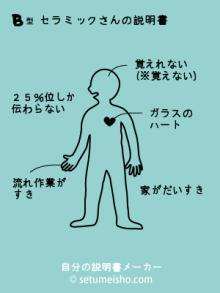 セラミックのブログ-B型セラミックさんの説明書