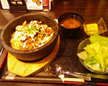 セラミックのブログ-生姜焼きビビンバ