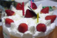 セラミックのブログ-39歳のケーキ(1)