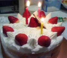 セラミックのブログ-39歳のケーキ(2)