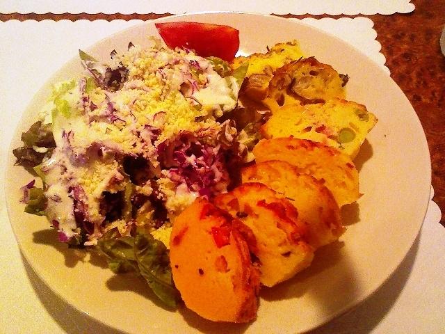 セラミックのブログ・第二章-ケーク・サレ(塩ケーキ)3種とサラダ