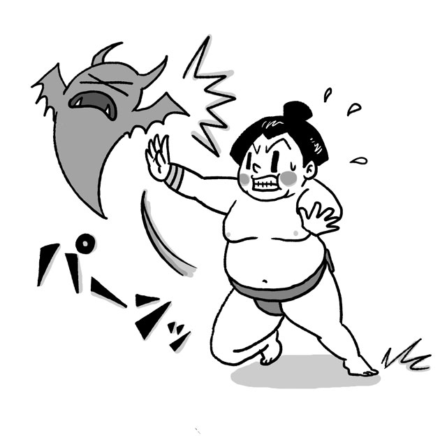 イラスト お相撲さん つっぱり 相撲