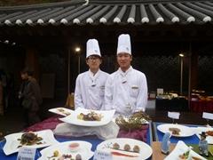 フード観光フェスティバル・料理学校の生徒達の作品