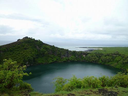 グランドコモロ島の塩湖