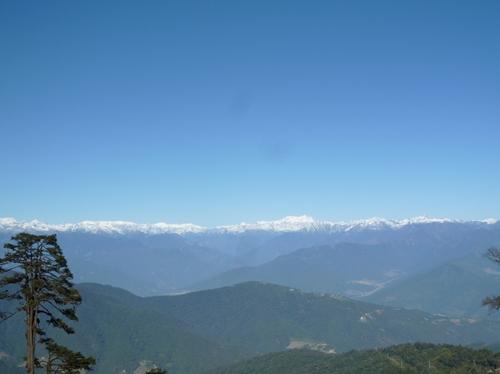 ドチュラから見たヒマラヤ山脈