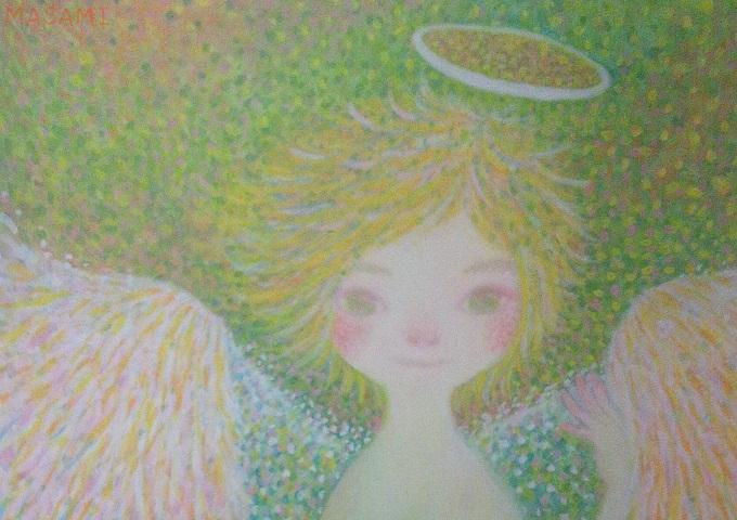 天使のイラストの一部