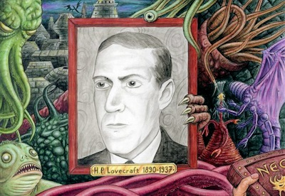 HPラヴクラフトの肖像画と被造物たち