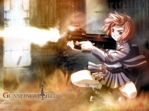 FN P90を撃つヘンリエッタ