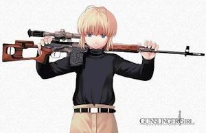 リコとドラグノフ狙撃銃