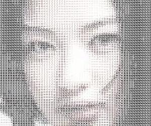 女性の顔のAA