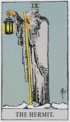 「隠者」のカード