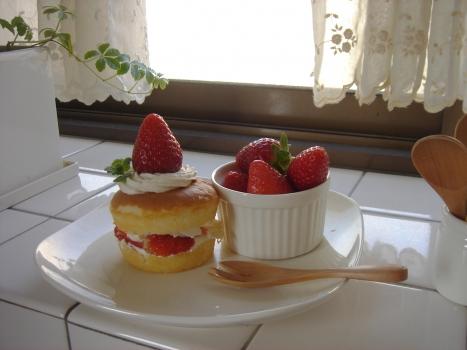 ピープで作ったイチゴケーキ