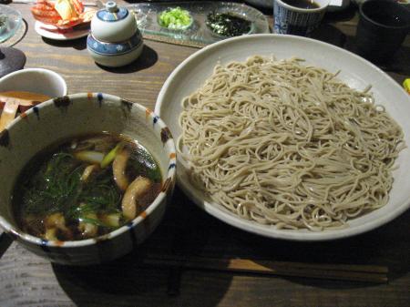 鴨葱沾汁 十割蕎麦麺