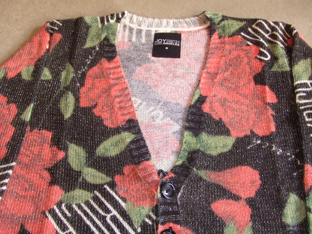 JOYRICH ROSE PATCH CARDI BLACK