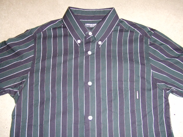 MDY STRIPE SHIRTS DECENT GREEN