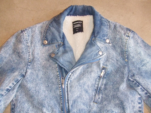 MDY DENIM RIDERS JACKET INDIGO FRONT