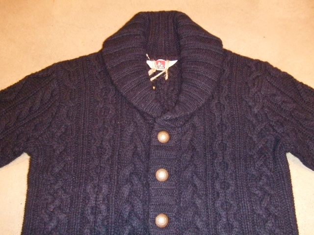 BENDAVIS CACLE KNIT CARDIGAN NAVY1