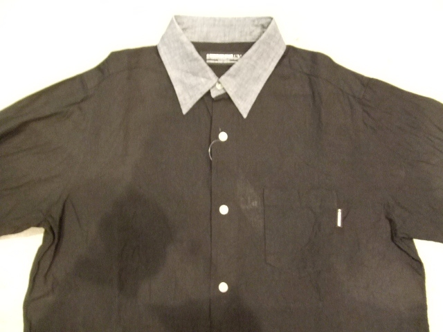 MDY 2TONE DUNGAREE SHIRTS BLACK FR1